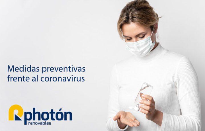 medidas preventivas frente al coronavirus photon renovables