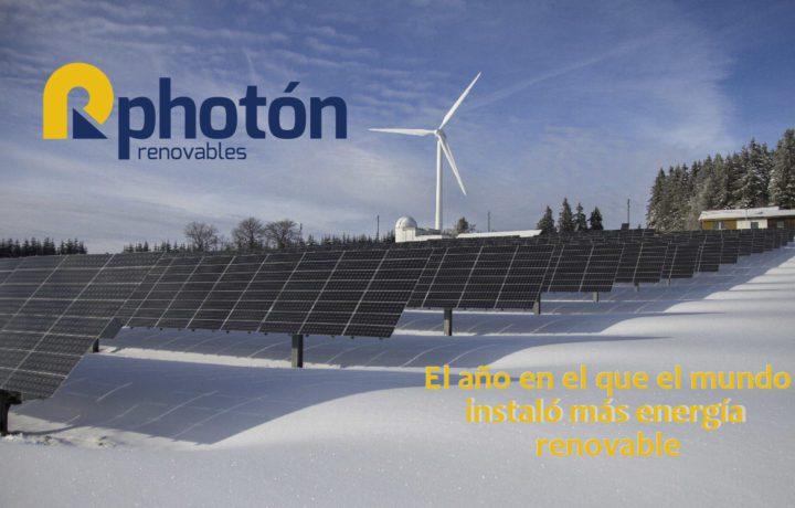 el año en el que el mundo instalo mas energia renovable