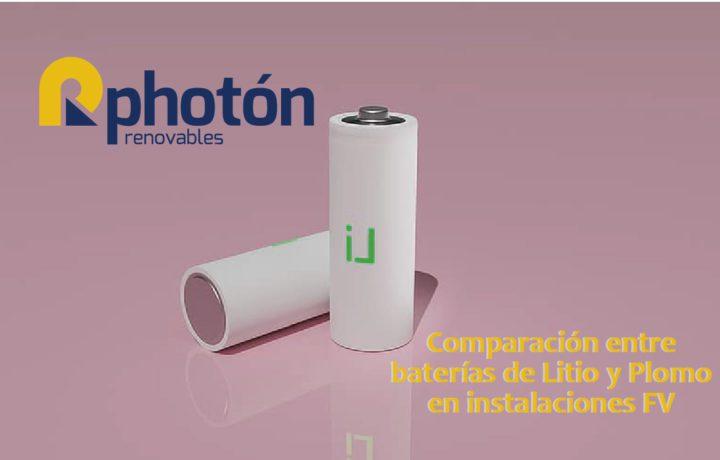 comparacion entre baterias de litio y plomo en instalaciones fv