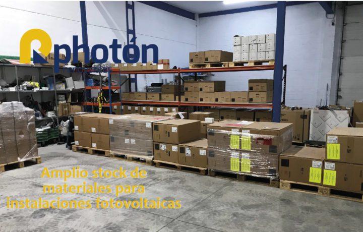 Amplio stock de materiales para instalaciones fotovoltaicas
