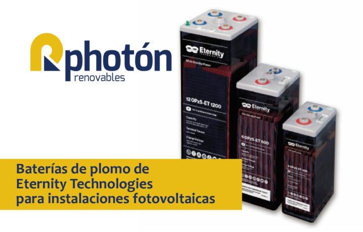Baterías para instalaciones fotovoltaicas Eternity Technologies