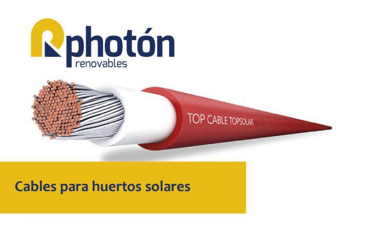 Cable solar utilizado para instalaciones fotovoltaicas y huertos solares