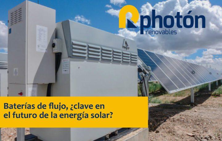 baterías de flujo alternativa de futuro para la energía solar