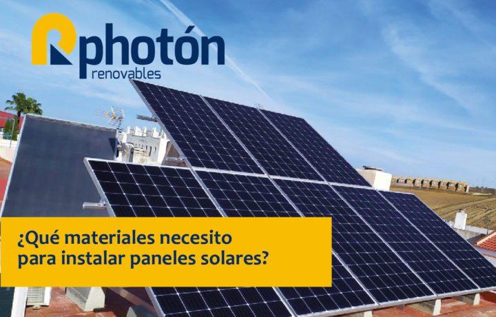 componentes necesarios a la hora de realizar una instalación fotovoltaica