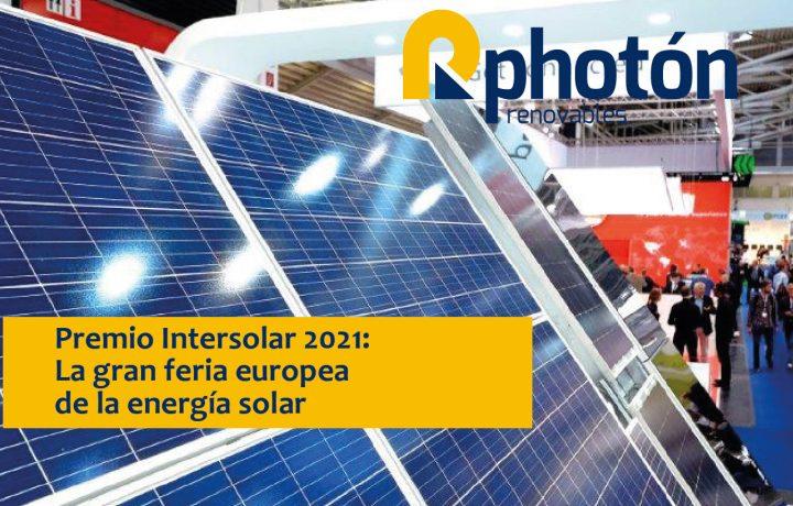 premios a las nuevas tecnologías y componentes innovadores en el ámbito de la energía solar fotovoltaica